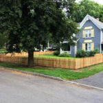 cedar wood picket fence in clinton ny