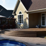 Deck with LED lighting in Utica