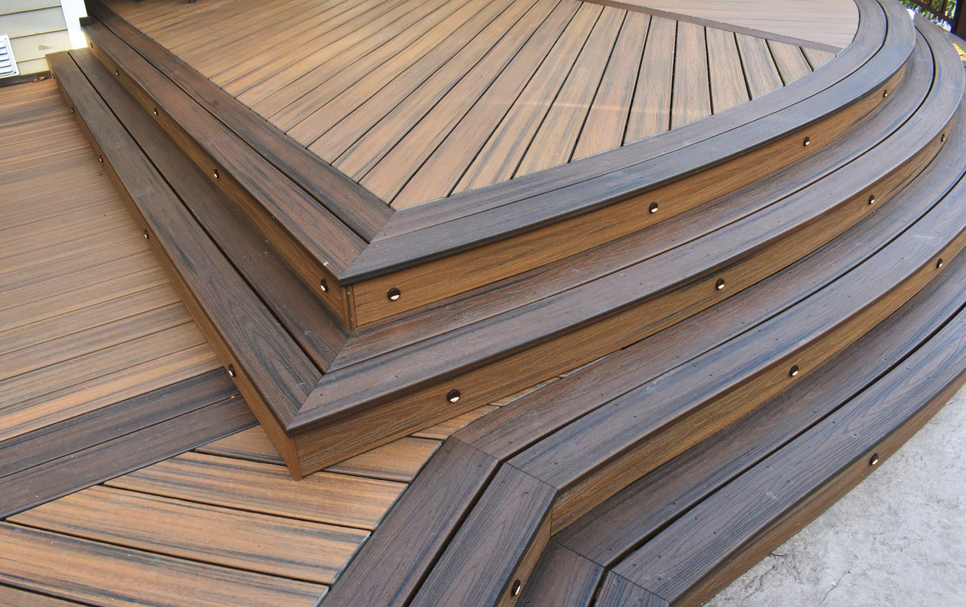 Amazing composite deck installation in utica ny poly for Composite flooring for decks